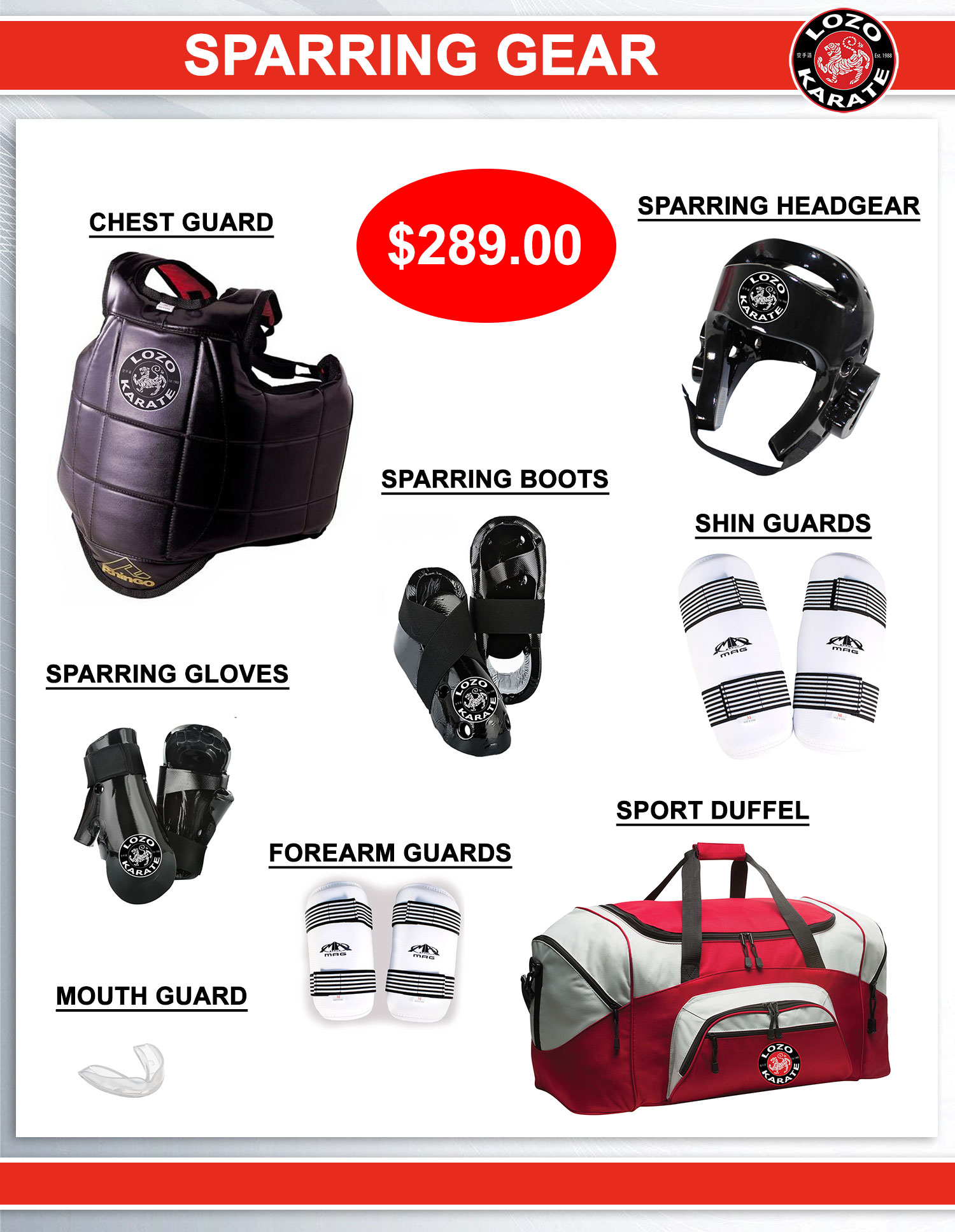 Sparring Gear for Karate